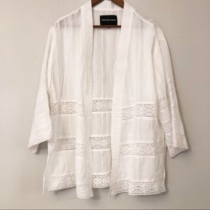 Who What Wear White Cotton Beach Cover Up